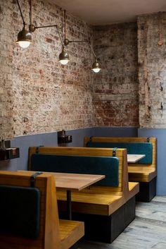 Ideas Booth Seating Bar Furniture - Image 6 of 21 Cafe Restaurant, Banquette Restaurant, Restaurant Booth Seating, Decoration Restaurant, Cafe Seating, Banquette Seating, Floor Seating, Restaurant Furniture, Bar Furniture