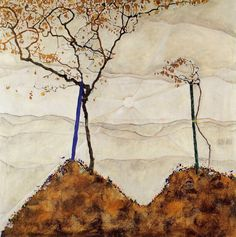 Autumn Sun I, 1912 by Egon Schiele