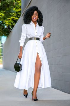 Elegant Shirt Dress Outfit Ideas For Spring And Summer - Sonstiges - Hemd Classy Dress, Classy Outfits, Stylish Outfits, Elegant Dresses Classy, African Fashion Dresses, African Dress, Look Fashion, Fashion Models, Classy Fashion