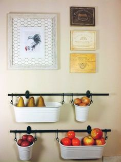 IKEA fintorp in kitchen holding various fruit