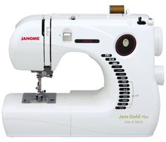 Janome Jem Gold Plus Portable Sewing Machine with Light Serging System (LSS) Model 661....BEST Sewing Machine ever Thanks mom for the Birthday Gift :)