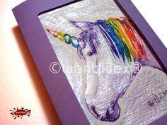 Symbole - Einzelstück handgemalt Karte Einhorn Regenbogen - ein Designerstück von wandklex bei DaWanda Aquarell - Ein Designerstück von wandklex Ingrid Heuser im kleinen Klexshop auf DaWanda unter http://de.dawanda.com/shop/wandklex  Westentaschenkunst - persönl.Kunststückchen, handgemalt (auch nach Foto) Lesezeichen oder Grußkarte  mal anders;  einzeln handgemalte Miniaturen mit Ihrem i