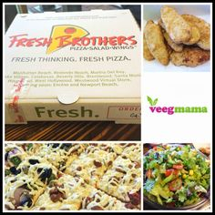 Vegan lunch at Fresh Brothers with VeegMama