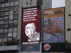 Frase de A Jauretche sobre panel de Av 9 de julio Burger King, Cover, Books, Frases, Buenos Aires, Libros, Display, Book, Book Illustrations