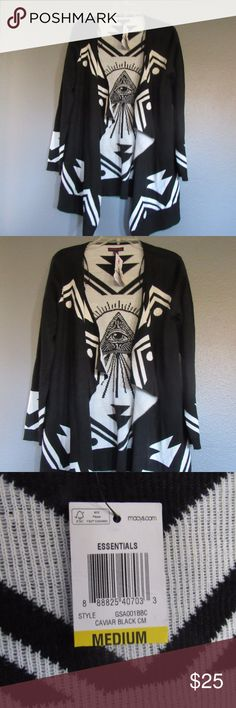 Material Girl Juniors Eye of Providence Cardigan New with Tags Material Girl Cardigan Size Medium Material Girl Sweaters Cardigans