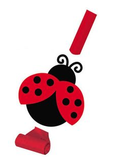 Lieveheersbeestje toeters - Ladybug party blowers