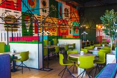 Green Villa Pizza Café by LEFT, Krasnoyarsk Russia cafe bar