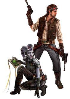 Human and Twi-Lek Smugglers