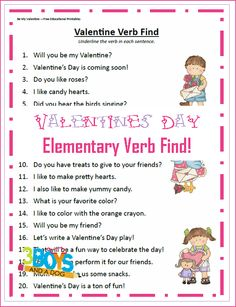 Check out the newest post (Valentine Verb Find Printable Worksheet) on 3 Boys and a Dog at http://3boysandadog.com/2014/02/valentine-verb-find-printable-worksheet/?Valentine+Verb+Find+Printable+Worksheet