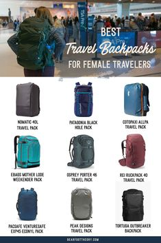 Pack light, get organized, and be more flexible on your travels. Here are the 9 best travel backpacks for women in 2020 for easy packing & happy traveling. Best Travel Bags, Mens Travel Bag, Packing List For Travel, Travel Diys, Time Travel, Best Carry On Backpack, Carry On Bag, Travel Systems For Baby, Best Travel Accessories