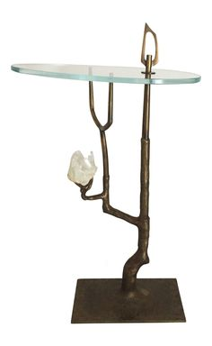 Buy Bronze Buranchi Drinks Table by James Logan Furnishings - Made-to-Order designer Furniture from Dering Hall's collection of Contemporary Mid-Century / Modern Transitional Organic Tables.