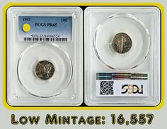 💡💡💡Low mintage Proof Mercury Dime from 1941. This was the 2nd to last year the US Mint made proofs until resuming again in 1950. Mintage for this date was only 16,557. Population at this grade (PR65) is much less. #rare #scarce #proof #mercurydime #dime #mondaymotivation #monday #coin #silver #coinnerd #lowpopulation #highgrade #lowmintage #pcgs #forsale #ebay #ebayseller #graded #certified #oldmoney #oldschool #oldcoin #vintage #antique #americana #usacoin