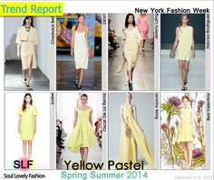 Yellow#Pastel #Colors Fashion #Trend for Spring Summer 2014 at New York #Fashion Week #NYFW #Spring2014 #Color #Trends  #yellow