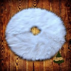 CHRISTMAS Tree Skirt Shaggy Faux Fur Faux Sheepskin by FurAccents