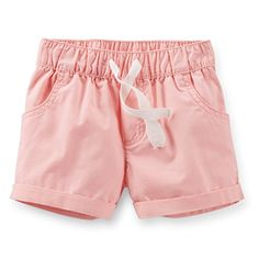 Carters Woven Shorts Baby  Light Pink12 Months * Check this awesome product by going to the link at the image.Note:It is affiliate link to Amazon.