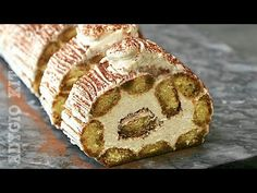 Tiramisu , reteta de tiramisu fara oua, cu piscoturi si mascarpone! Rulada Tiramisu fara coacere - YouTube Tiramisu Trifle, Cold Deserts, Trifle Recipe, Yule Log, Food Cakes, Sweet Cakes, Homemade Cakes, Cake Pops, Cake Recipes