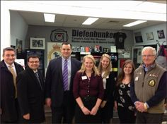 Diefenbunker Staff and Volunteers with Minister James Moore, Parliamentary Secretaries Paul Calandra and Jacques Gourde.
