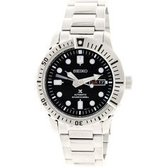Seiko Men's Prospex SRP585K Silver Stainless-Steel Automatic Watch