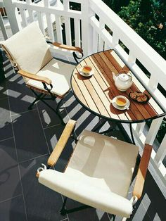 Cup of coffee in a morning terrace.