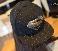 2015 New unisex Plain Baseball Caps superman batman logo Hip-hop Cotton Peaked Hat Casual Outdoor Travel Snapback Sun Hat(China (Mainland))