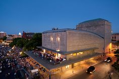 Wisconsin Union Theater and Memorial Union Terrace at dusk. Photo by Jeff Miller. Best Places To Work, Photo Library, Wisconsin, Terrace, Theater, Restoration, Exterior, Memories, Mansions