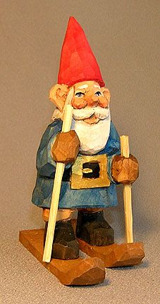 Nome on skis with sticks $49.00