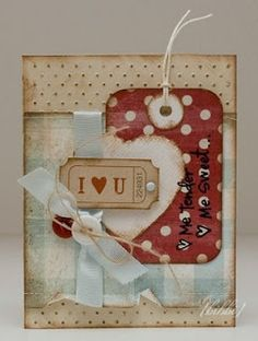 I love you....make a tag out of designer paper.