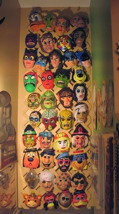 Retro Halloween masks with <3 from JDzigner www.jdzigner.com
