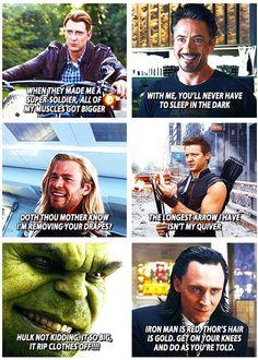 Avengers pick-up lines, hahaha! #Funny #Avengers