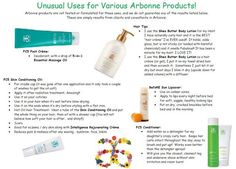 Creative uses for Arbonne products!