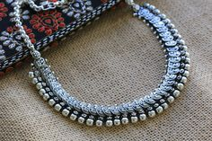 Silver Lakshmi / Laxmi Coin Necklace - AristaBeads Jewelry - 4