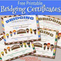 Free Printable Bridging Certificates