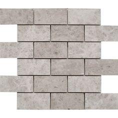 2 x 4 Tile Mosaic Tundra Grey Marble wall floor tile kitchen backsplash bathroom wall floor luxury stone Kitchen Wall Tiles, Kitchen Flooring, Kitchen Backsplash, Bathroom Wall, Backsplash Ideas, Kitchen Cabinets, Kitchen Paint, Bathroom Ideas, Backsplash Herringbone