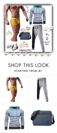 """Newchic47"" by merisa-imsirovic ❤ liked on Polyvore featuring men's fashion and menswear"