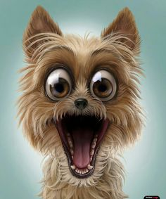 Funny pins, dog expressions, animals and pets, cute animals, dog illustrati Funny Animal Pictures, Cute Pictures, Funny Animals, Cute Animals, Animals Dog, Cartoon Kunst, Cartoon Art, Puppy Clipart, Dog Expressions