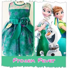Vestido Frozen Fever