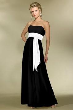 Black White Bridesmaid Dress