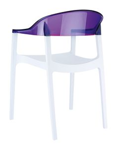 [Siesta Exclusive   Contract Collection   CARMEN Armchair] Stacking armchair with the latest generation of air moulding thermoplastic injection. Seat in polyproplene reinforced with glass fiber, backrest in transparent polycarbonate. For indoor and outdoor use.