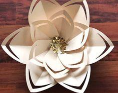 SVG Petal #43 Paper Flower Template, Digital Version, Including The Base - The Citroen
