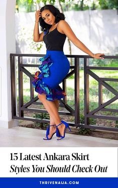 15 Latest Ankara Skirt Styles You Should Check Out You can not argue with fashionistas when they say Ankara styles will only get better and more creative, the trendy Ankara skirt styles listed in this post African Wear Dresses, Latest African Fashion Dresses, African Print Fashion, African Attire, African Women Fashion, Modern African Dresses, Latest Fashion, Ankara Rock, Ankara Stil