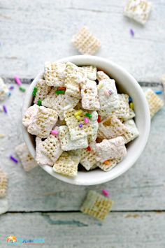 Cake Batter Puppy Chow Recipe Perfect Snack  Ideas! Or, Do You Call Them Muddy Buddies? | The Rebel Chick