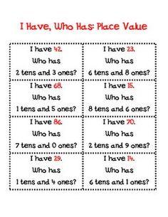 F is for First Grade: Math Work Stations Chapter 6 Binder 2 Math Place Value, Place Values, Math Classroom, Kindergarten Math, Classroom Ideas, Math Resources, Math Activities, Math Games, Maths Riddles