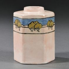 Saturday Evening Girls Tea Caddy  Glazed ceramic  Boston, Massachusetts, 1919
