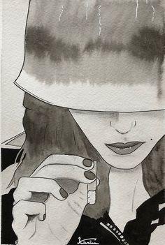©KA's Ink, illustration, portrait.