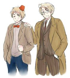 Doctor Who and Hetalia...OH MY GOSH YES! I think Arthur's a bit more Nine than Eleven, though!