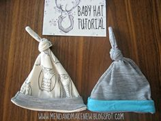 Baby Hat Tutorial - Great idea for a baby gift - Easy to make baby hats!!