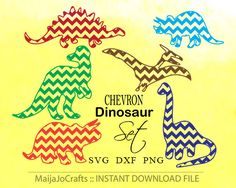 Dinosaurs svg CHEVRON Dinosaurs  Svg DXF Cricut Cut Files, Silhouette Cut Files, PNG   This listing is for an INSTANT DOWNLOAD. You can easily create your own projects. Can be used with the silhouette cutting machines or other machines that accept SVG. Make your own projects!  It includes 2 zip folders: 1) SVG & DXF vector files 2) 7 PNG files with transparent background !!! No font included.  You must have an Electronic Cutting Machine that reads SVG or DXF files to use these designs like…