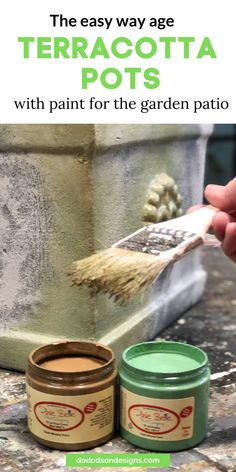 I highly recommend painting terracotta pots before buying new ones. Update the look by adding an aged look with chalk paint. No more orange! Wood Painting Art, Painting Tips, Wall Paintings, Faux Painting, Painting Furniture, Terra Cotta, Wood Slice Crafts, Dixie Belle Paint, Terracotta Pots