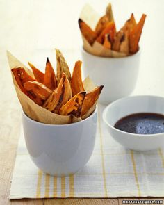 Sweet Potato Wedges with Sesame-soy Dipping Sauce