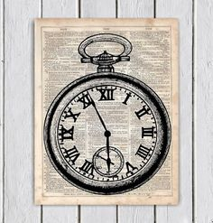 Hey, I found this really awesome Etsy listing at https://www.etsy.com/listing/218501595/vintage-clock-dictionary-art-print